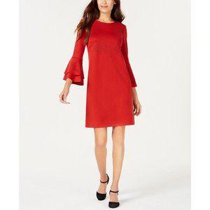 Alfani Petite Lasercut Bell-Sleeve Dress